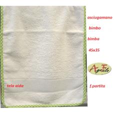 Asciugamano bimbo-a f.partita punto croce
