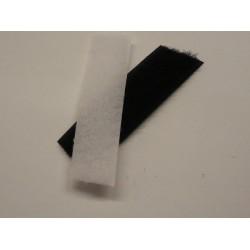Velcro strap femmina bianco e nero da cucire