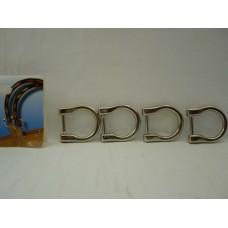 ganci per  manici borse argento set 4 pezzi